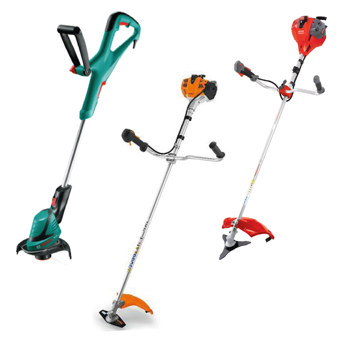 - BRUSSCUTTERS, GRASS TRIMMERS & CLEARING SAWS